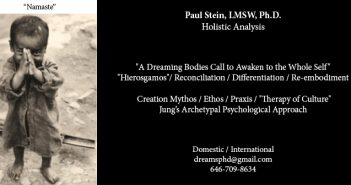 Paul Stein, LMSW, Ph.D. / Holistic Analysis